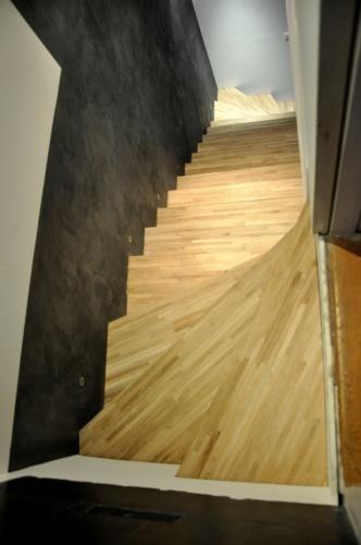 Excavation souplex F : Escalier bois