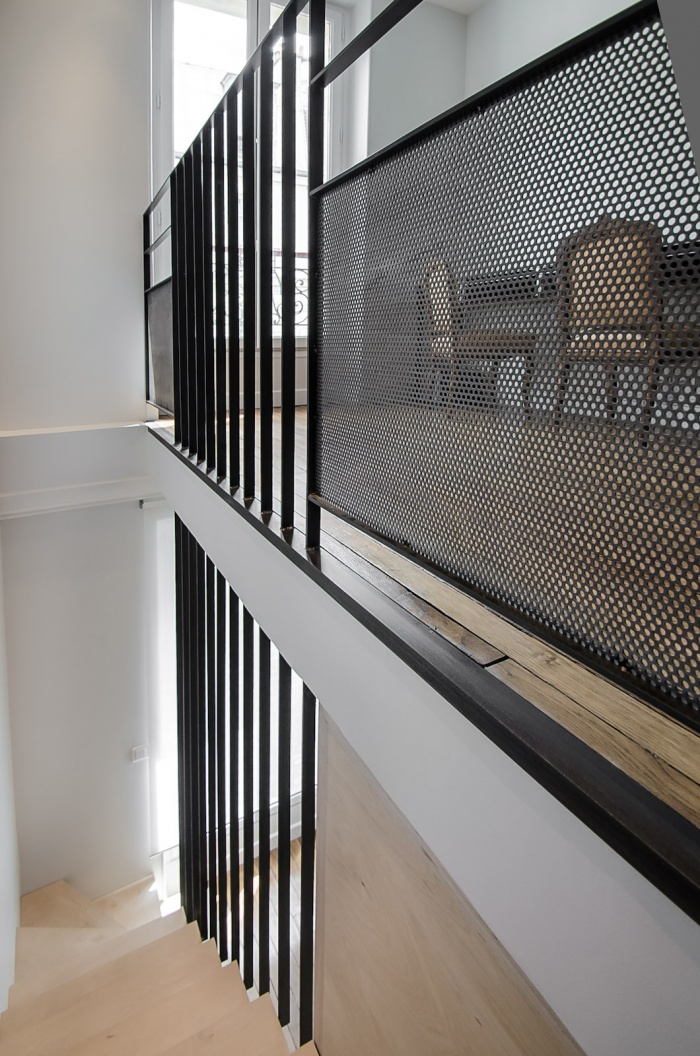 Architectes 05 d co et am nagements int rieurs appartement pe - Garde corps escalier original ...