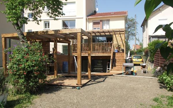 Extension bois sur 2 niveaux deuil la barre une for Extension bois 2 niveaux