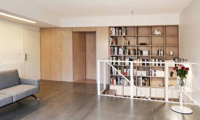 L'escalier dans la bibliothèque