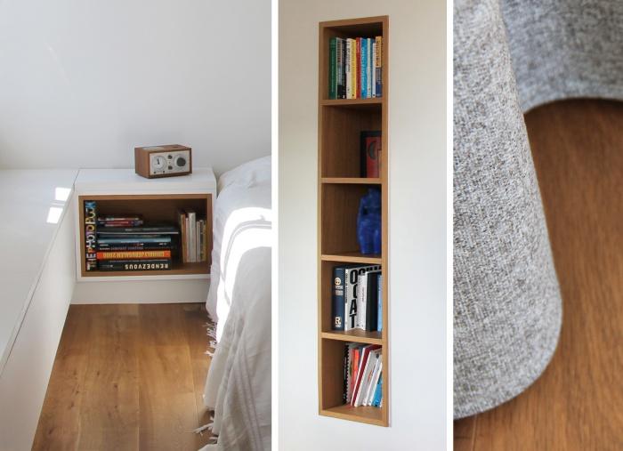 Réaménagement d'une suite parentale sous les toits : détails d'agencement
