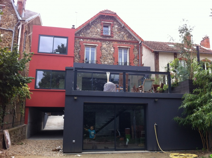 Extension et r novation d 39 une maison en meuli re saint for Agrandissement maison besoin architecte