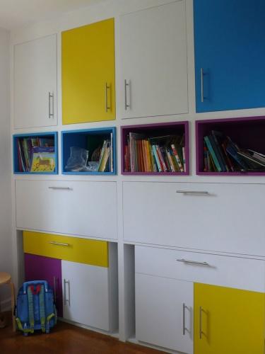 Rénovation d'un appartement avec construction de meubles
