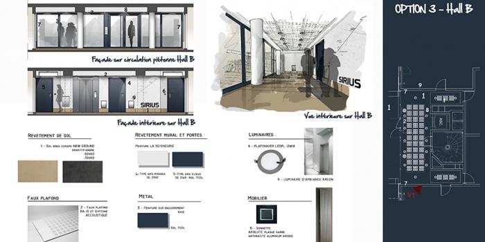 68 logements collectifs : Planche projet intérieur