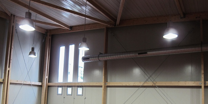 Extension du gymnase Carpentier à Asnière-sur-Seine : Détail intérieur salle de sport