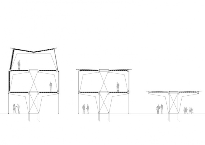 Pavillon bois : PAV_coupes