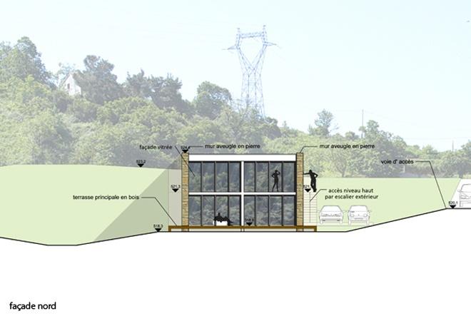 Le Guépard – conception d'une maison familiale : le-guepard-conception-maison-corse-architecture-interieur-facade-nord