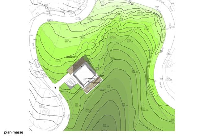Le Guépard – conception d'une maison familiale : le-guepard-conception-maison-corse-architecture-interieur-plan-masse