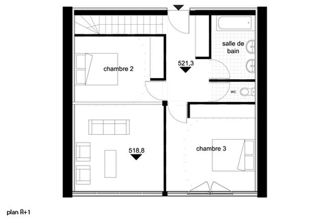 Le Guépard – conception d'une maison familiale : le-guepard-conception-maison-corse-architecture-interieur-plan-r+1