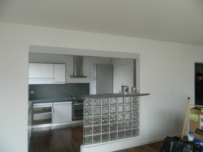Architectes modification d 39 un appartement for Cuisine avec ouverture passe plat