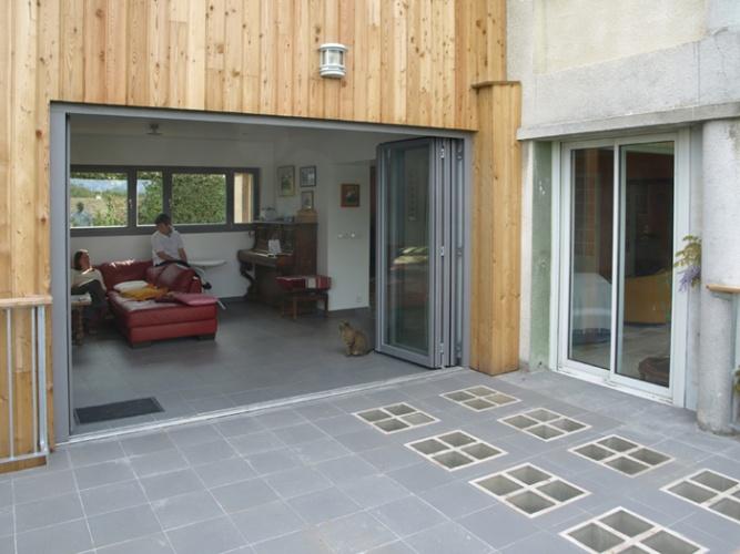 Extension avec vue : ouverture séjour-terrasse