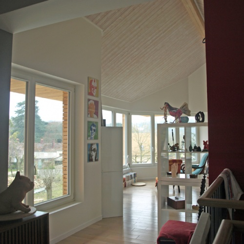 Extension Hybride Béton-Bois : étage-pièce à vivre