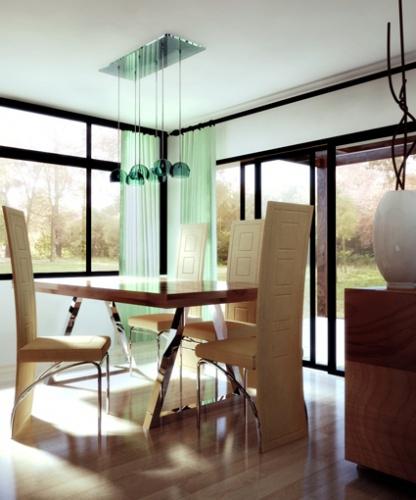 Maison moderniste bois : Intérieur 1