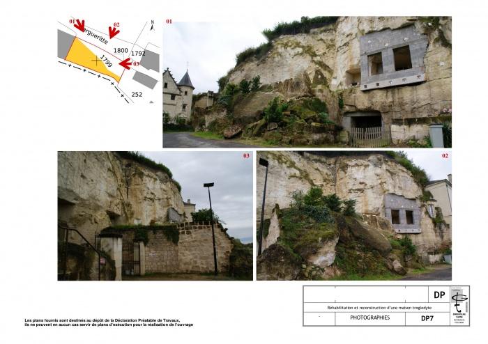 Reconstruction et réhabilitation d'une maison troglodyte