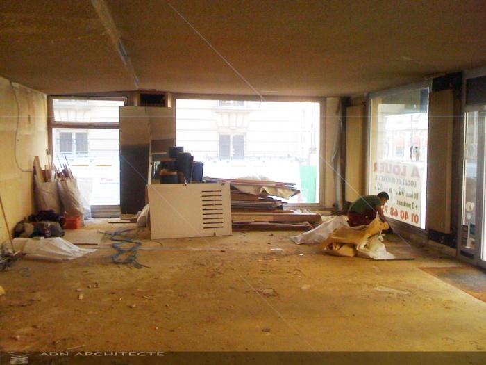 REHABILITATION D'UN LOCAL COMMERCIAL EN CLINIQUE DENTAIRE : Avant travaux