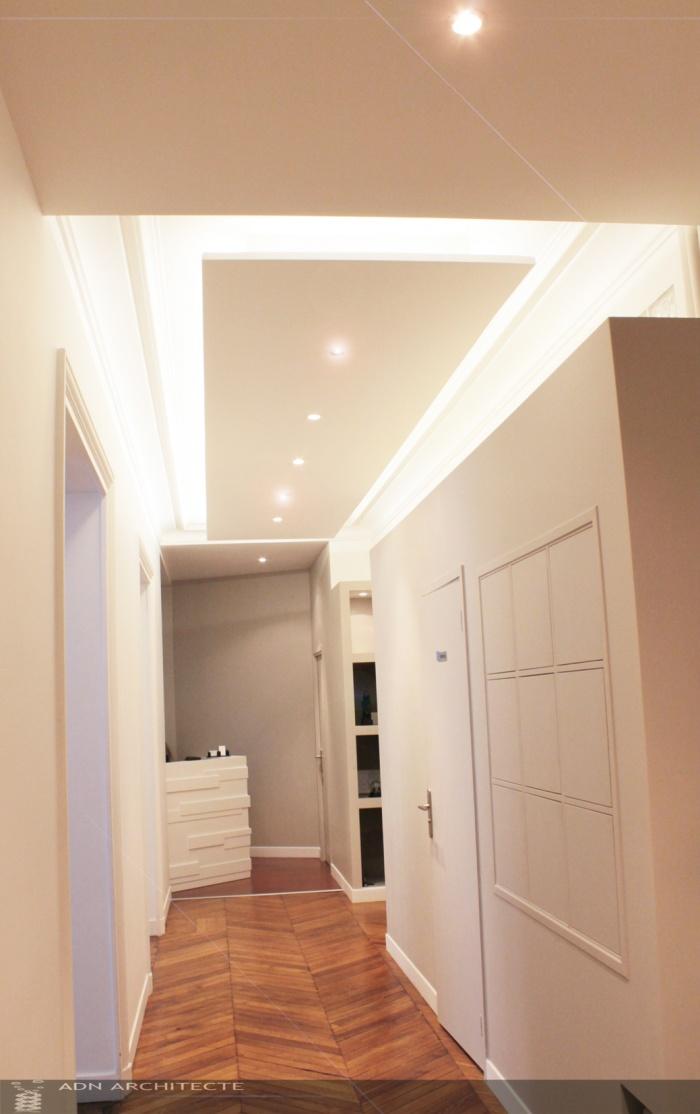 Architectes rehabilitation d 39 un appartement en for Decoration fou plafond