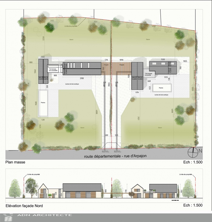 Rehabilitation d 39 une discotheque en 2 maisons individuelles boissy saint l ger une - Plan de masse d une maison ...