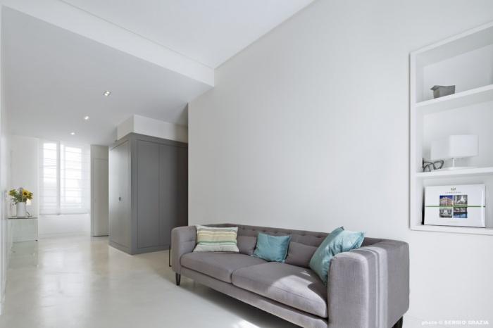 Appartement contemporain à Saint Germain des Prés : Séjour