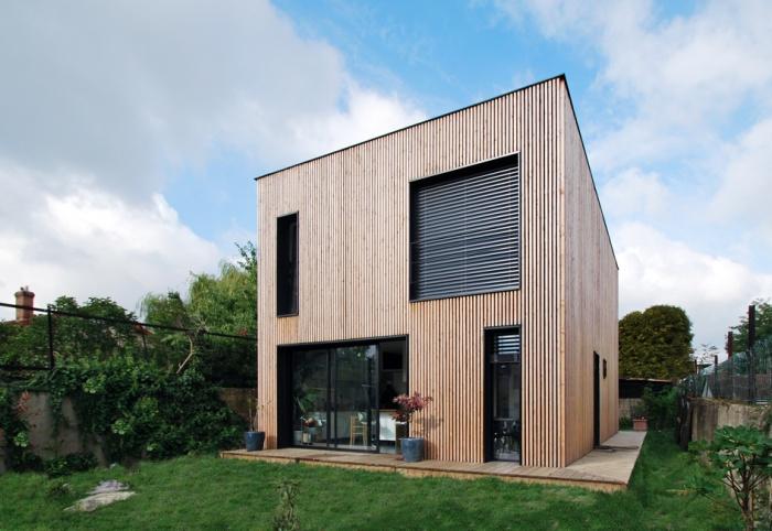Maison individuelle BBC - ossature bois préfabriquée : EPINAY_ARRIERE_01.jpg