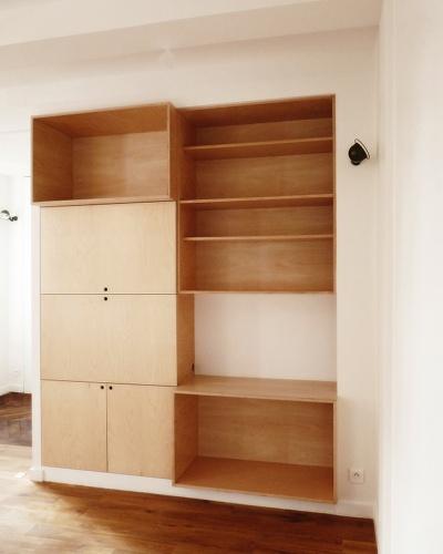 studio sur mesure paris une r alisation de merril sineus. Black Bedroom Furniture Sets. Home Design Ideas