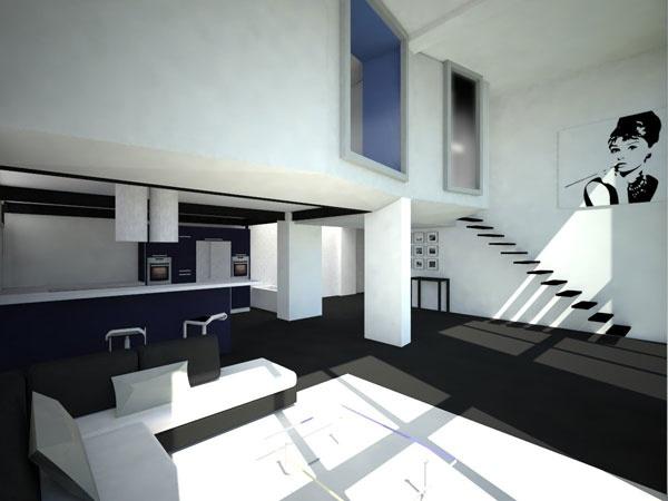 loft colombes une r alisation de nim architecture. Black Bedroom Furniture Sets. Home Design Ideas