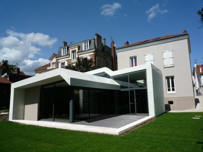 Architectes extension et r novation asni res sur seine asni r - Extension design maison ...