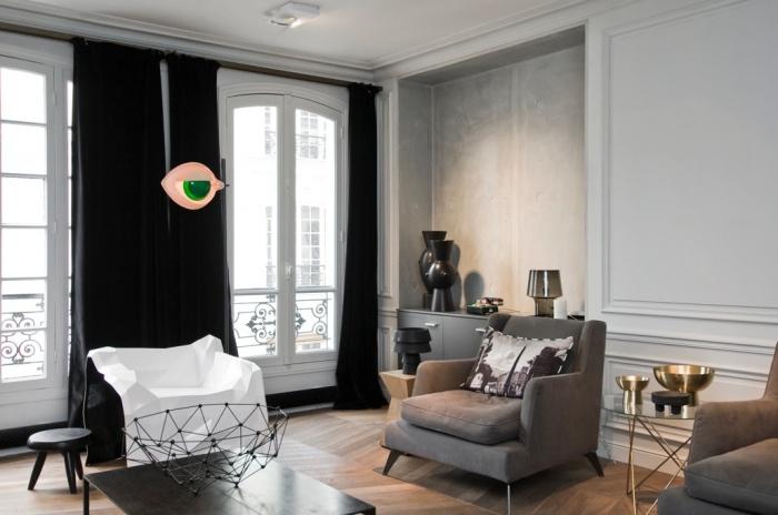 Appartement rue de bretagne : Salle de séjour