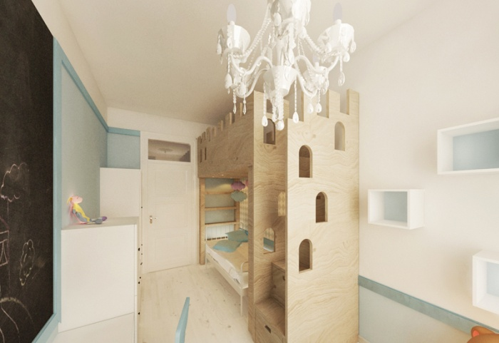Appartement à Varsovie : Chambre 02 3D