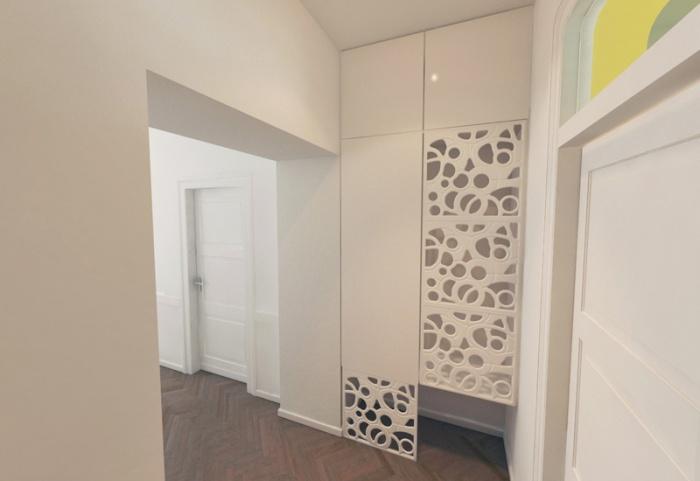 Appartement à Varsovie : Hall d'entrée 3D