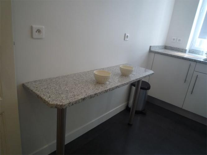 Rénovation d'un appartement rue du Faubourg Saint Honoré : Cuisine - détail plan petit déjeuner