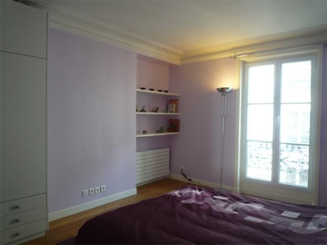 Rénovation d'un appartement rue du Faubourg Saint Honoré : Chambre enfants vue1