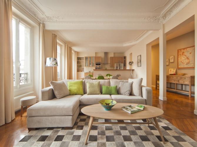 Aménagement et décoration d'un appartement. : Après travaux