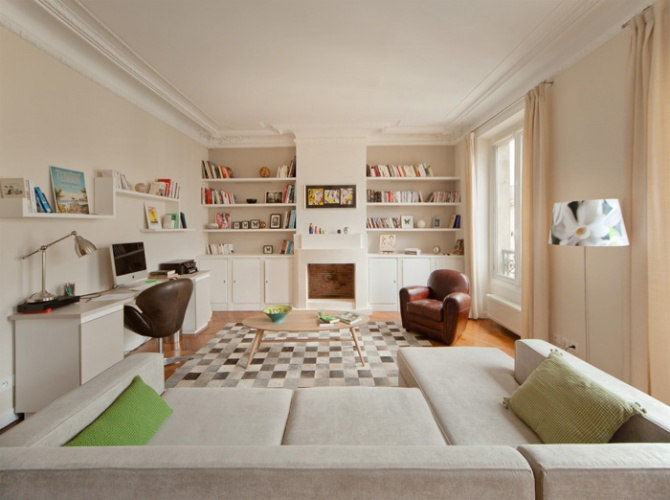 Aménagement et décoration d'un appartement. : Après travaux 2