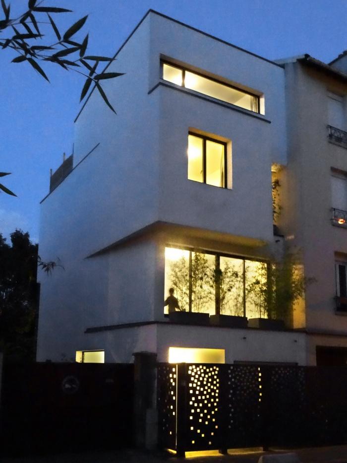 Maison Cubique : vue nuit1