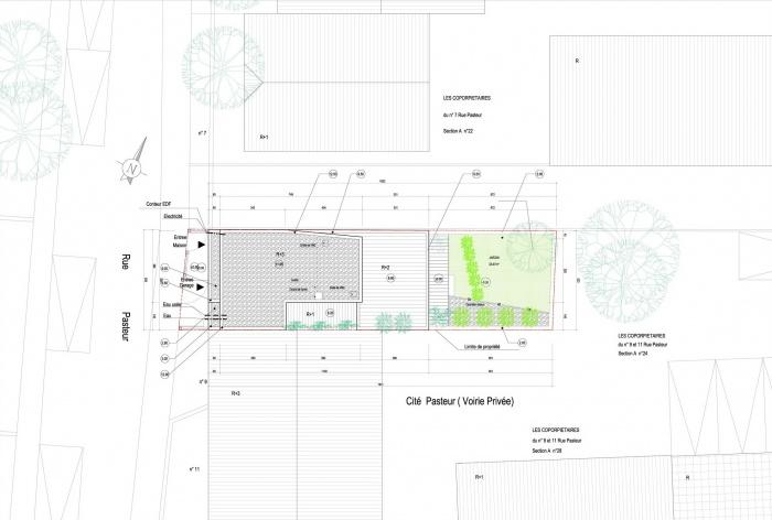 Maison Cubique : plan masse