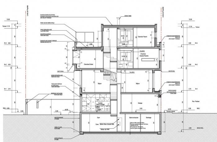 Maison cubique villejuif une r alisation de haiying xie - Coupe toiture vegetalisee ...