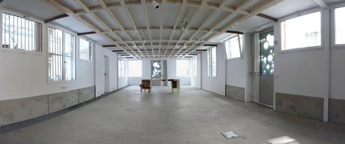 Réhabilitation lourde d'un atelier: LAWOMATIC, Espace de Coworking : Pano salle1