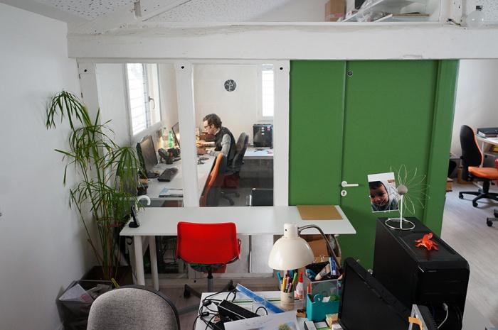 Réhabilitation lourde d'un atelier: LAWOMATIC, Espace de Coworking