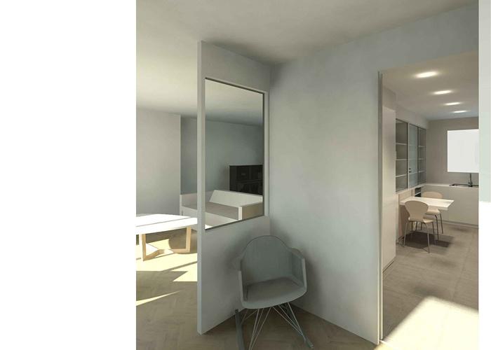 Rénovation d'un appartement de 115 m²_Paris 15ème : WEB_VILLON_72dpi_vue sejour cuisine