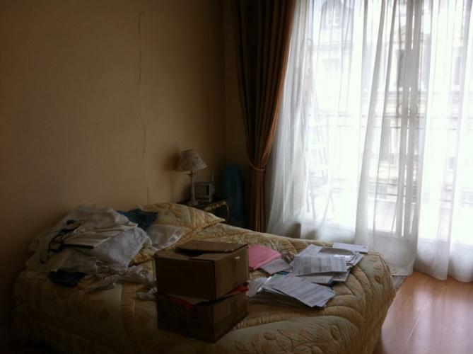 Rénovation et aménagement d'un appartement Wagram : chambre à coucher avant