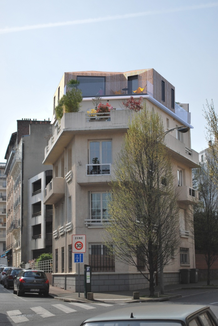 architectes extension par sur l vation d 39 un immeuble issy les moulineaux issy. Black Bedroom Furniture Sets. Home Design Ideas