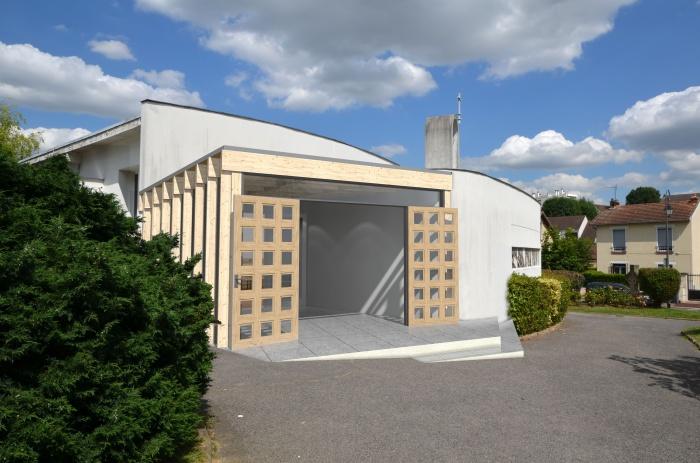 architectes narthex eglise saint maxime antony. Black Bedroom Furniture Sets. Home Design Ideas