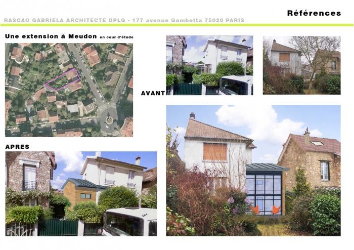 Une extension de maison à Meudon