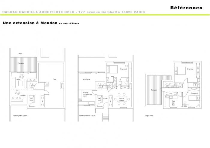 Une extension de maison à Meudon : réf- meudon 2  copie