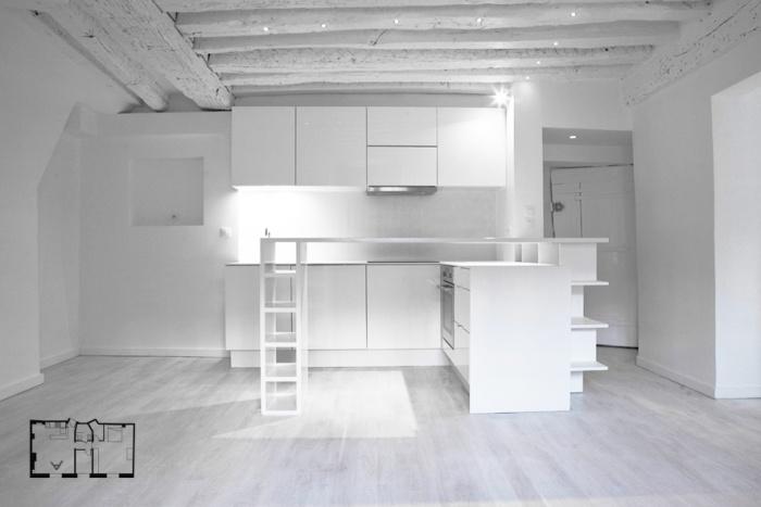 Appartement à Paris 3 : CH08