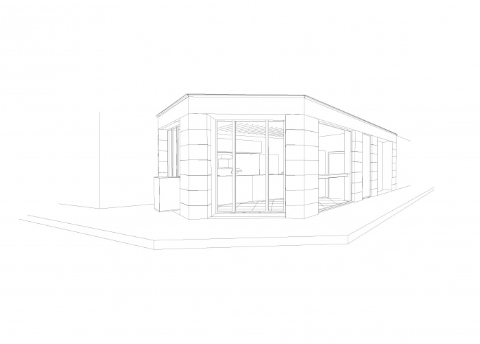 Restaurant le : Perspective façade