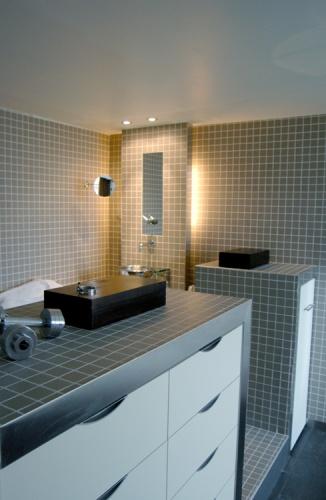 Appartement en open space : Salle de bain