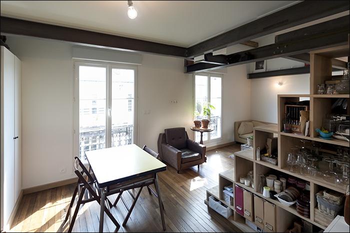combl minima 1 am nagement comble paris 10 paris 10 une r alisation de pm4. Black Bedroom Furniture Sets. Home Design Ideas