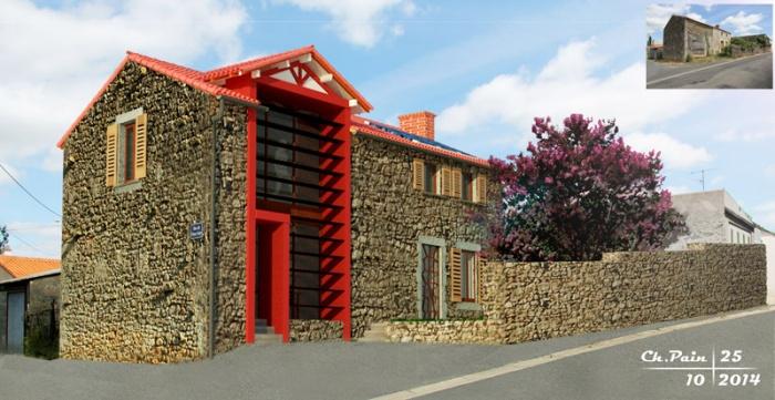 Réhabilitation d'une maison en milieu rural