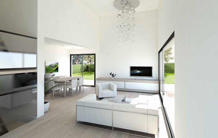 Architectes maison contemporaine boissy st for Plan interieur maison moderne